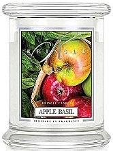 Парфюми, Парфюмерия, козметика Ароматна свещ в бурканче - Kringle Candle Apple Basil