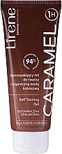 Парфюмерия и Козметика Автобронзиращ гел за тяло с органична кокосова вода - Lirene Self Tanning Gel Caramel