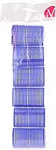 Парфюмерия и Козметика Велкро ролки за коса, 499595, сини - Inter-Vion