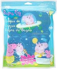 """Парфюмерия и Козметика Комплект гъби за баня """"Прасето Пепа"""" 3бр, космос - Suavipiel Peppa Pig Bath Spong"""