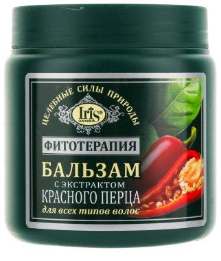 Балсам с екстракт от червен пипер за всички видове коса - Iris Cosmetic — снимка N1
