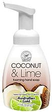 Парфюмерия и Козметика Пенещ се сапун за ръце с кокос и лайм - Australian Gold Foaming Hand Soap Coconut Lime