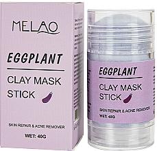Парфюмерия и Козметика Стик глинена маска за лице с патладжан - Melao Eggplant Clay Mask Stick