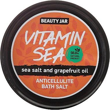 """Антицелулитни соли за вана с морска сол с масло от грейпфрут """"Vitamin Sea"""" - Beauty Jar Anticellulite Bath Salt — снимка N2"""