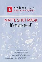 Парфюмерия и Козметика Матираща памучна маска за лице - Erborian Matte Shot Mask