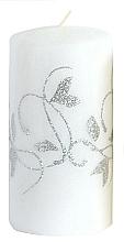 Парфюмерия и Козметика Декоративна свещ, бяла, 7x10 см - Artman Amelia
