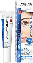 Парфюмерия и Козметика Околоочен експрес серум против тъмни кръгове и отоци - Eveline Cosmetics Face Therapy Professional SOS DermoRevital