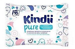 Парфюмерия и Козметика Детски мокри кърпичи - Kindii Pure