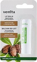Парфюмерия и Козметика Балсам за устни с масла от шеа и какао - Venita Lip Balm Shea Butter + Cocoa Butter