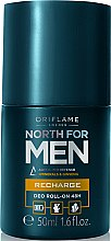 Парфюми, Парфюмерия, козметика Дезодорант-антиперспирант с 48-часово действие - Oriflame Norht For Men Recharge Deo Roll-On 48H