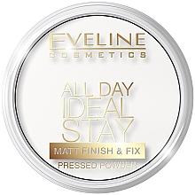 Парфюмерия и Козметика Матираща и подхранваща пудра - Eveline Cosmetics All Day Ideal Stay Matt Finish & Fix White-60