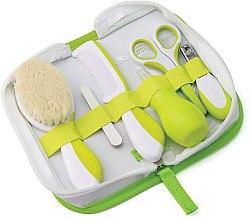Парфюмерия и Козметика Детски комплект грижа за коса и нокти 0м+, зелен - Nuvita