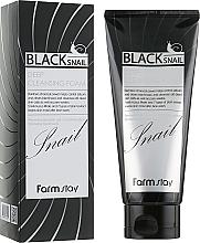 Парфюмерия и Козметика Пяна за лице с муцин от черен охлюв - FarmStay Black Snail Deep Cleansing Foam