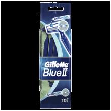 Парфюми, Парфюмерия, козметика Комплект самобръсначки за еднократна употреба, 10бр. - Gillette Blue II Chromium