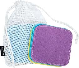 Парфюмерия и Козметика Гъби за премахване на грим, в торбичка за пране - Makeup Remover Sponge Set Multicolour & Reusable