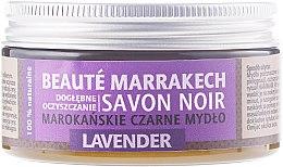 "Парфюми, Парфюмерия, козметика Натурален черен сапун ""Лавандула"" - Beaute Marrakech Savon Noir Moroccan Black Soap Lavender"