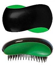 Парфюмерия и Козметика Четка за коса , черно- зелена - KayPro Dtangler