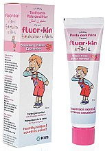 Парфюми, Парфюмерия, козметика Детска паста за зъби - Kin Fluor Strawberry Flavor Toothpaste