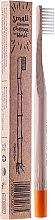 Парфюмерия и Козметика Бамбукова четка за зъби, мека, оранжева - Mohani Toothbrush