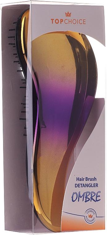 Четка за коса 62179, жълто-лилава - Top Choice Detangler Hair Brush