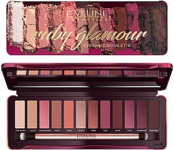 Парфюмерия и Козметика Палитра сенки за очи - Eveline Cosmetics Ruby Glamour Eyeshadow Palette