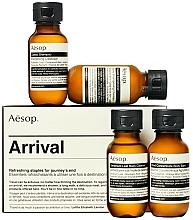 Парфюмерия и Козметика Комплект за пътуване - Aesop Arrival Travel Kit (shm/50ml + cond/50ml + sh/gel/50ml + balm/50ml)