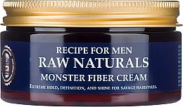 Парфюмерия и Козметика Крем за оформяне на коса - Recipe For Men RAW Naturals Monster Fiber Cream