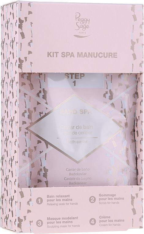 Комплект за ръце - Peggy Sage Spa Manucure Kit (ваничка/20g + пилинг-гел/15ml + маска/15ml + крем/15ml) — снимка N1
