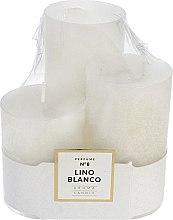 Парфюмерия и Козметика Комплект ароматни свещи - Artman Glass Classic Perfume №8 Lino Blanco Candle (candle/3pc)