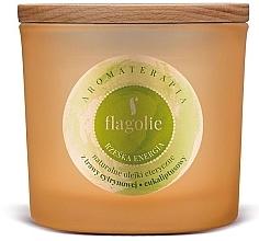 """Парфюмерия и Козметика Ароматна свещ в чаша """"Енергия"""" - Flagolie Fragranced Candle Right Energy"""