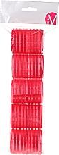 Парфюмерия и Козметика Велкро ролки за коса, 499594, червени - Inter-Vion