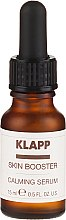 Парфюмерия и Козметика Успокояващ бустер-серум за лице - Klapp Skin Booster Calming Serum