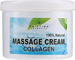 Парфюмерия и Козметика Масажен крем за лице и тяло - Hristina Cosmetics Collagen Massage Cream