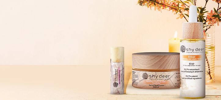 При покупка на всеки продукт Shy Deer получавате подарък натурално масло за устни