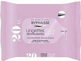 Парфюмерия и Козметика Кърпички за премахване на грим, 20 бр - Byphasse Make-up Remover Milk Proteins All Skin Wipes