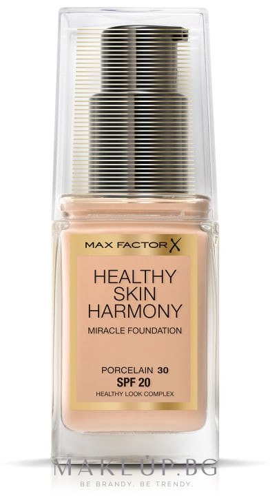 Фон дьо тен - Max Factor Healthy Skin Harmony Foundation — снимка 30 - Porcelain