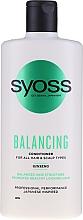 Парфюмерия и Козметика Балсам с женшен за всеки тип коса и скалп - Syoss Balancing Ginseng Conditioner