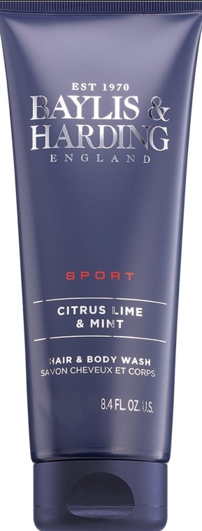 "Душ гел и шампоан ""2 в 1"" - Baylis & Harding Men's Citrus Lime & Mint Hair & Body Shampoo"