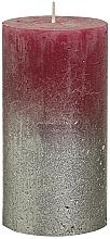 Парфюмерия и Козметика Цилиндрична свещ, бордо, 130х68 мм - Bolsius Metallic Candle
