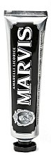 Парфюми, Парфюмерия, козметика Паста за зъби - Marvis Dentif Amarelli Licorice (мини)