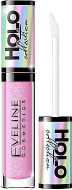 Гланц за устни - Eveline Cosmetics Holo Collection