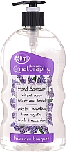 Парфюмерия и Козметика Дезинфекциращ гел за ръце с аромат на лавандула - Bluxcosmetics Naturaphy Alcohol Hand Sanitizer With Lavender Fragrance