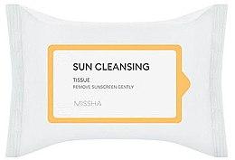 Парфюми, Парфюмерия, козметика Почистващи мокри кърпички - Missha All Around Safe Block Sun Cleansing Tissue