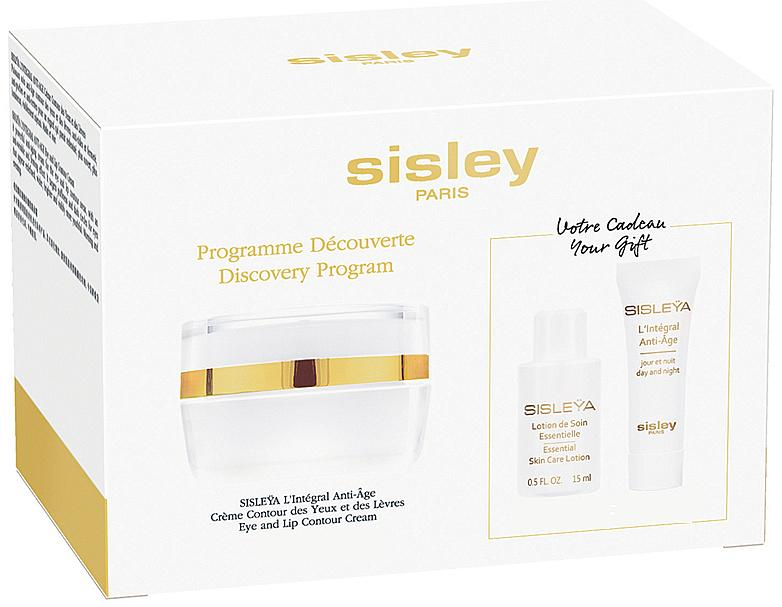 Комплект за лице - Sisleya L'Integral Anti-Age Eye And Lip Contour Cream Set (крем/4ml + лосион/15ml + крем за очи и устни/15ml)