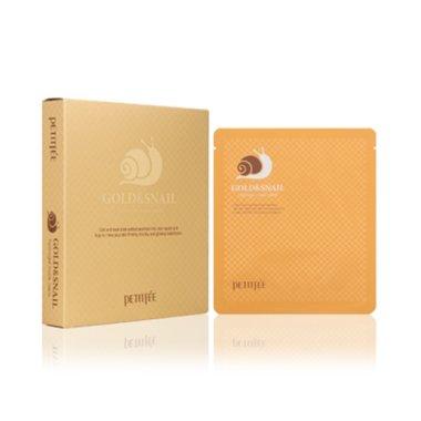 Хидрогел маска за лице със злато и екстракт от охлюв - Petitfee & Koelf Gold & Snail Hydrogel Mask Pack — снимка N1