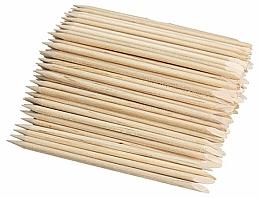 Парфюмерия и Козметика Комплект дървени пръчици за избутване на кожички , 100 бр. - Deni Carte