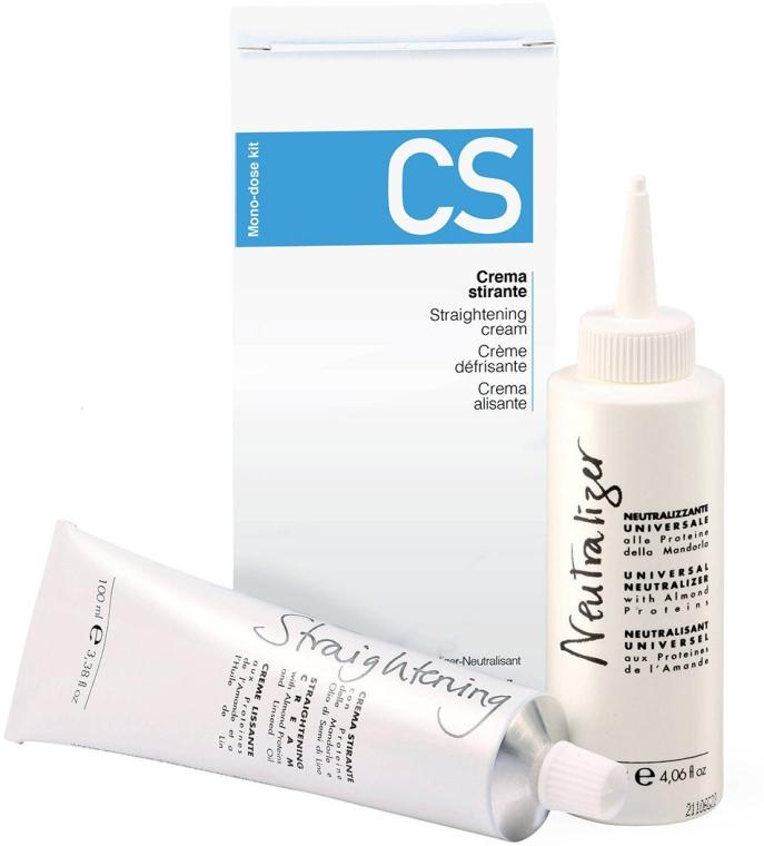 Комплект за изправяне и изглаждане на косата - Fanola CS Straightening Kit (крем/100ml + неутрализатор/120ml)