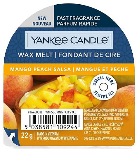 Ароматен восък - Yankee Candle Wax Melt Mango Peach Salsa — снимка N1