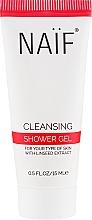 Парфюмерия и Козметика Душ гел за тяло с екстракт от ленено семе - Naif Cleansing Shower Gel (мини)
