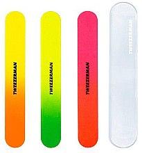 Комплект разноцветни пили за нокти - Tweezerman Neon Hot Nail Filemates — снимка N1